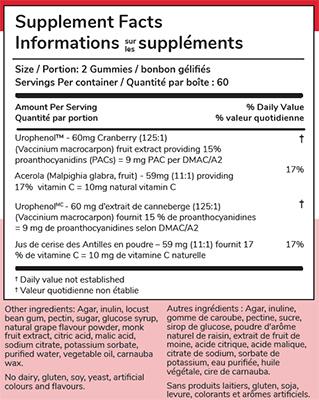 UTI Control Gummies for Kids – Cranberry PACs